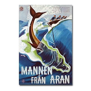 Trademark Fine Art J. Olsens Lito 'Mannen Fran Aran 1937'