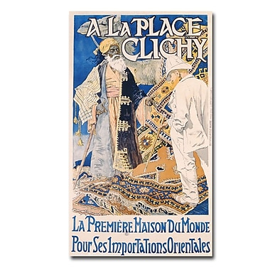 Trademark Fine Art Eugene Grasset 'A La Place Clinchy 1890' Canvas Art 18x32 Inches