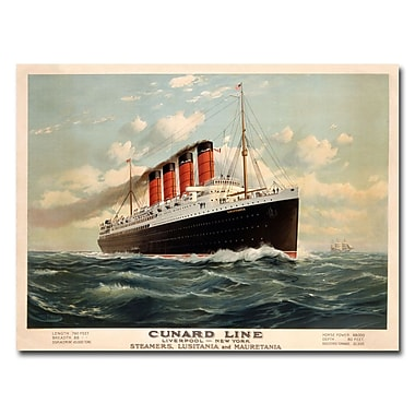 Trademark Fine Art Fred Pansing 'Cunard Line 1908' Canvas Art