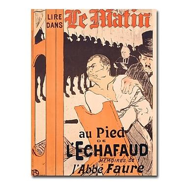 Trademark Fine Art Henri Tolouse Lautrec 'L'Abbe Faure dans Le Matin' Art