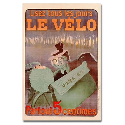 Trademark Fine Art Ferdinand Misti 'Le Velo 1899' Canvas Art 22x32 Inches