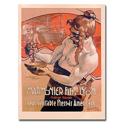 Trademark Fine Art Adolf Hohenstein 'Marmonier Fils-Lyon 1910' Canvas Art 18x24 Inches