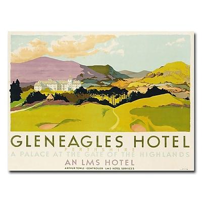 Trademark Fine Art Gleneagles Hotel LMS 1924' Cavas Art