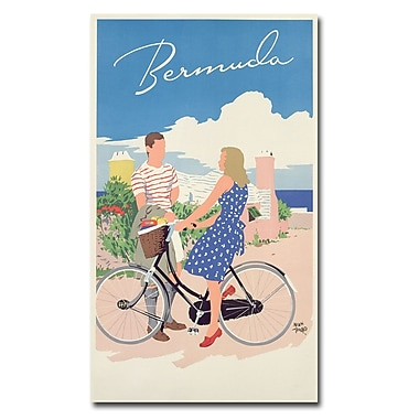 Trademark Fine Art Adolph Treidler 'Bermuda 1956' Canvas Art 18x32 Inches