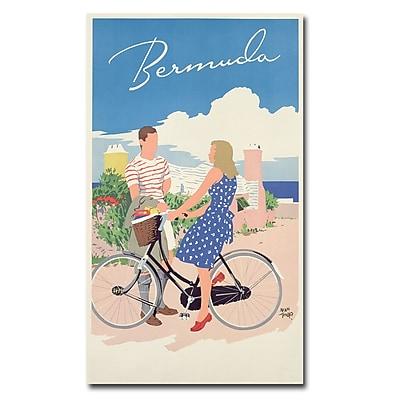Trademark Fine Art Adolph Treidler 'Bermuda 1956' Canvas Art 30x47 Inches