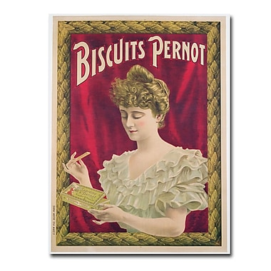 Trademark Fine Art Pernot Biscuits 1902' Canvas Art 35x47 Inches