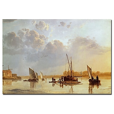 Trademark Fine Art Aelbert Cuyp 'Boats on a River c.1658' Canvas Art