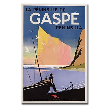 Trademark Fine Art Gaspe Peninsula Quebec 1939' Canvas Art 22x32 Inches