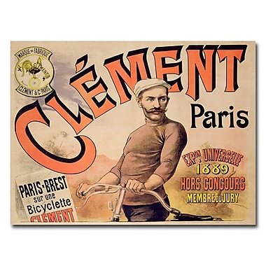 Trademark Fine Art Clement Bicycles 1889' Canvas Art
