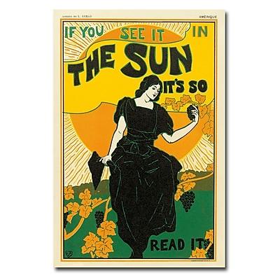 Trademark Fine Art Louis Rhead 'The Sun Newspaper 1895' 16x24 Inches