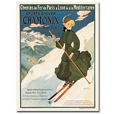 Trademark Fine Art SNF Routes to Chamonix 1910' Canvas Art 24x32 Inches