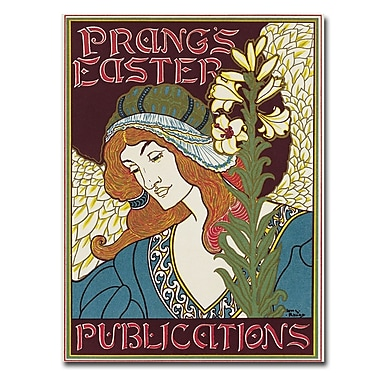 Trademark Fine Art Louis Rhead 'Prang's Easters Publications 1896' Canvas Art