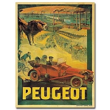 Trademark Fine Art Francisco Tamagno 'Peugeot Cars 1908' Canvas Art