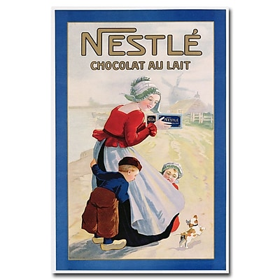 Trademark Fine Art 'Nestle Chocolat au Lait' Canvas Art 22x32 Inches