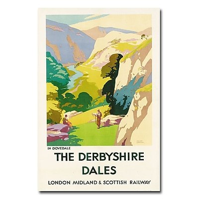 Trademark Fine Art Frank Sherwin 'The Derbyshire Dales' Canvas Art 22x32 Inches