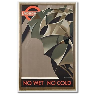 Trademark Fine Art Manner 'London Underground 1929' Canvas Art 22x32 Inches