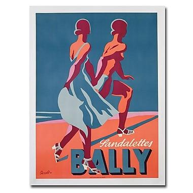 Trademark Fine Art Gerald 'Bally Sandals 1935' Canvas Art