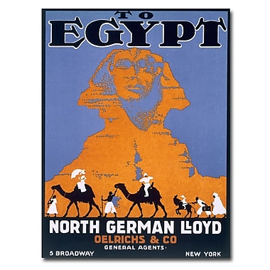 Trademark Fine Art Egypt Norddeutscher Lloyd' Canvas Art