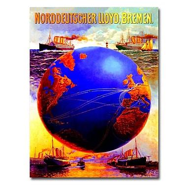 Trademark Fine Art Karl von Eckenbrecher 'North German Lloyd Line' Canvas Art