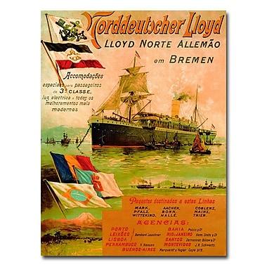 Trademark Fine Art North German Lloyd Line 1898' Canvas Art