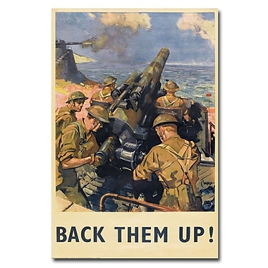 Trademark Fine Art Back Them Up 1941' Canvas Art 30x47 Inches