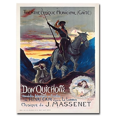 Trademark Fine Art Georges Rochegrosse 'Don Quichotte 1910' Canvas Art