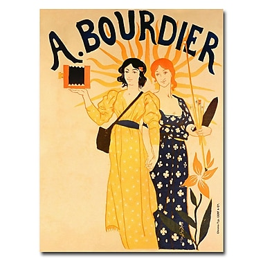 Trademark Fine Art Paul-Emile Mangeant 'Bourdier Cameras' Canvas Art 18x24 Inches