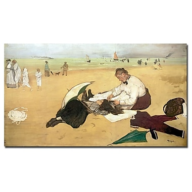 Trademark Fine Art Edgar Degas 'Beach Scene, 1876-77' Canvas Art