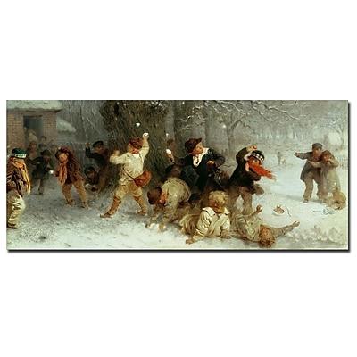 Trademark Fine Art John Morgan 'Snowballing, 1865' Canvas Art