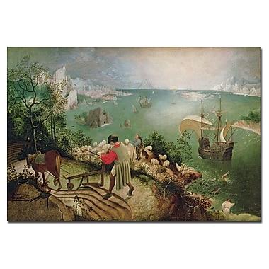 Trademark Fine Art Pieter Bruegel 'Landscape with Fall of Icarus, 1555' Canvas