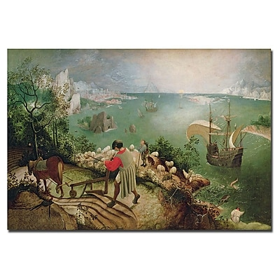 Trademark Fine Art Pieter Bruegel 'Landscape with Fall of Icarus, 1555' Canvas 22x32 Inches