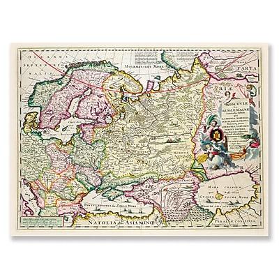 Trademark Fine Art Map of Asia Minor c. 1626' Canvas Art 14x19 Inches