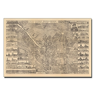 Trademark Fine Art Schleun 'Map of Berlin 1773' Canvas Art 22x32 Inches
