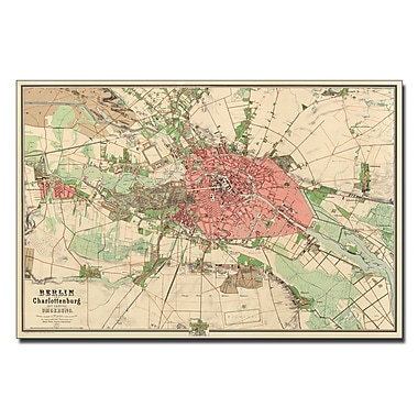 Trademark Fine Art Map of Berlin 1857' Canvas Art 35x47 Inches