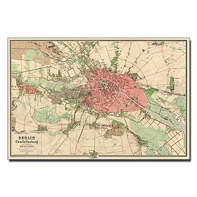 Trademark Fine Art Map of Berlin 1857' Canvas Art 16x24 Inches