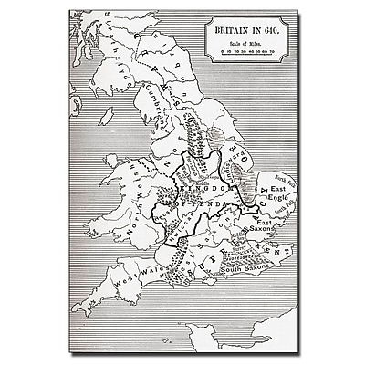 Trademark Fine Art 'Map of Britain in 640' Canvas Art 22x32 Inches