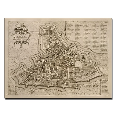 Trademark Fine Art Pierre Mortier 'Map of Padua 1704' Canvas Art 14x19 Inches