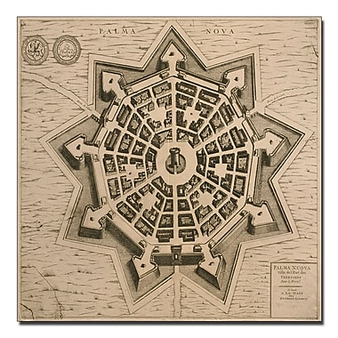 Trademark Fine Art 'Map of Palma Nuova, 1704' canvas art 24x24 Inches