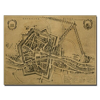 Trademark Fine Art Pierre Mortier 'Map of Rovigo 1704' Canvas Art 26x32 Inches
