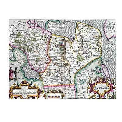 Trademark Fine Art Mercator's Atlas 'Map of Tartaria 1595' Canvas Art 14x19 Inches