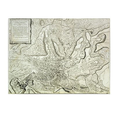 Trademark Fine Art Antonio Lafreri 'Map of the City of Rome 1557' Canvas Art 14x19 Inches