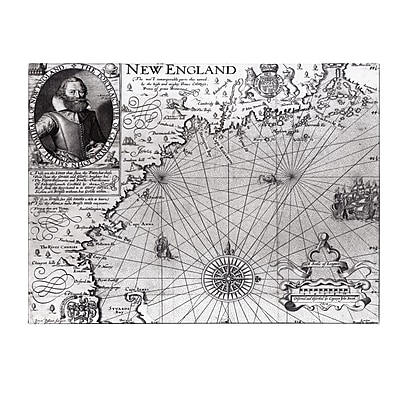 Trademark Fine Art John Smith 'Coast of New England 1614' Canvas Art 14x19 Inches