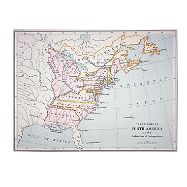 Trademark Fine Art 'N. America Declaration of Independence' Canvas Art 14x19 Inches