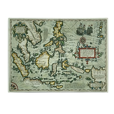 Trademark Fine Art Map of the East Indies 1635' Canvas Art 24x32 Inches