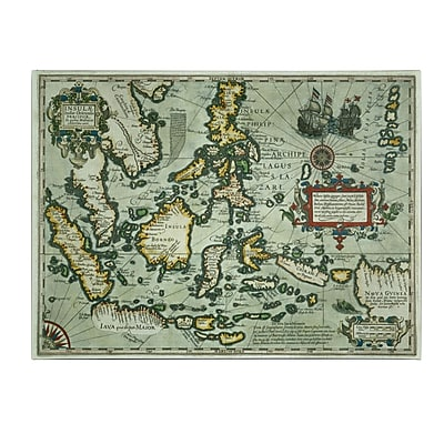 Trademark Fine Art Map of the East Indies 1635' Canvas Art 35x47 Inches