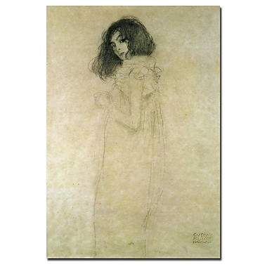 Trademark Fine Art Gustav Klimt 'Portrait of a Young Woman, 1896-97' Canvas Art 22x32 Inches