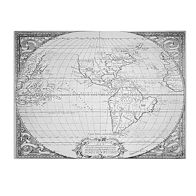 Trademark Fine Art Richard Hakluyt 'Map of the New World, 1587' Canvas Art 18x24 Inches