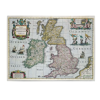 Trademark Fine Art 'Map of Britain 1631' Canvas Art 24x32 Inches