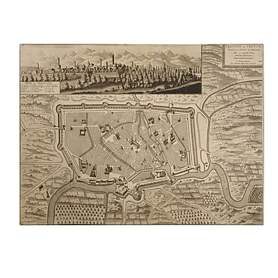 Trademark Fine Art Pierre Mortier 'Map of Treviso,1704' Canvas Art 18x24 Inches