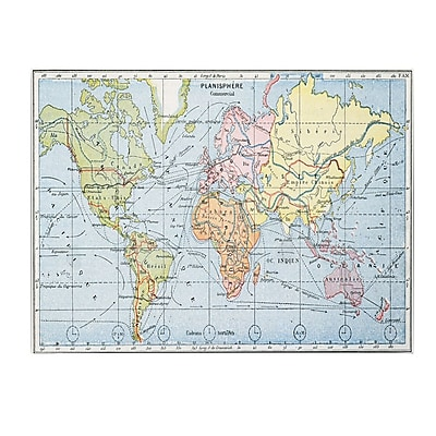 Trademark Fine Art Map of Principal World Trade Routes 1912' Canvas Art 14x24 Inches